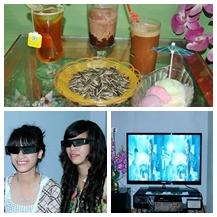 Combo 2 Vé xem phim,ăn uống  tại Chip Chip 3D cafe