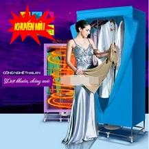Tủ sấy quần áo Holtashi - Panasonic - Bamboo - Samsung 2 tầng  Thanh inox Siêu Cứng  ( Giá Mới - HOT)