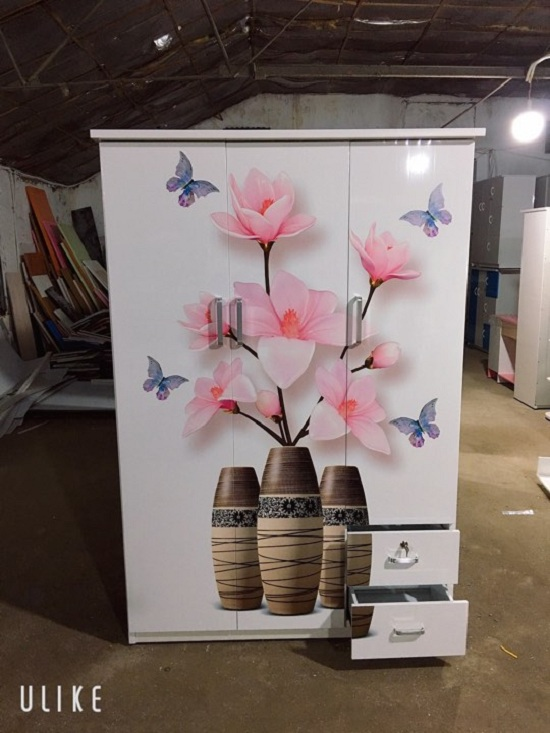 Tủ quần áo nhựa đài loan 3D Tại Hải Phòng 3 Cánh