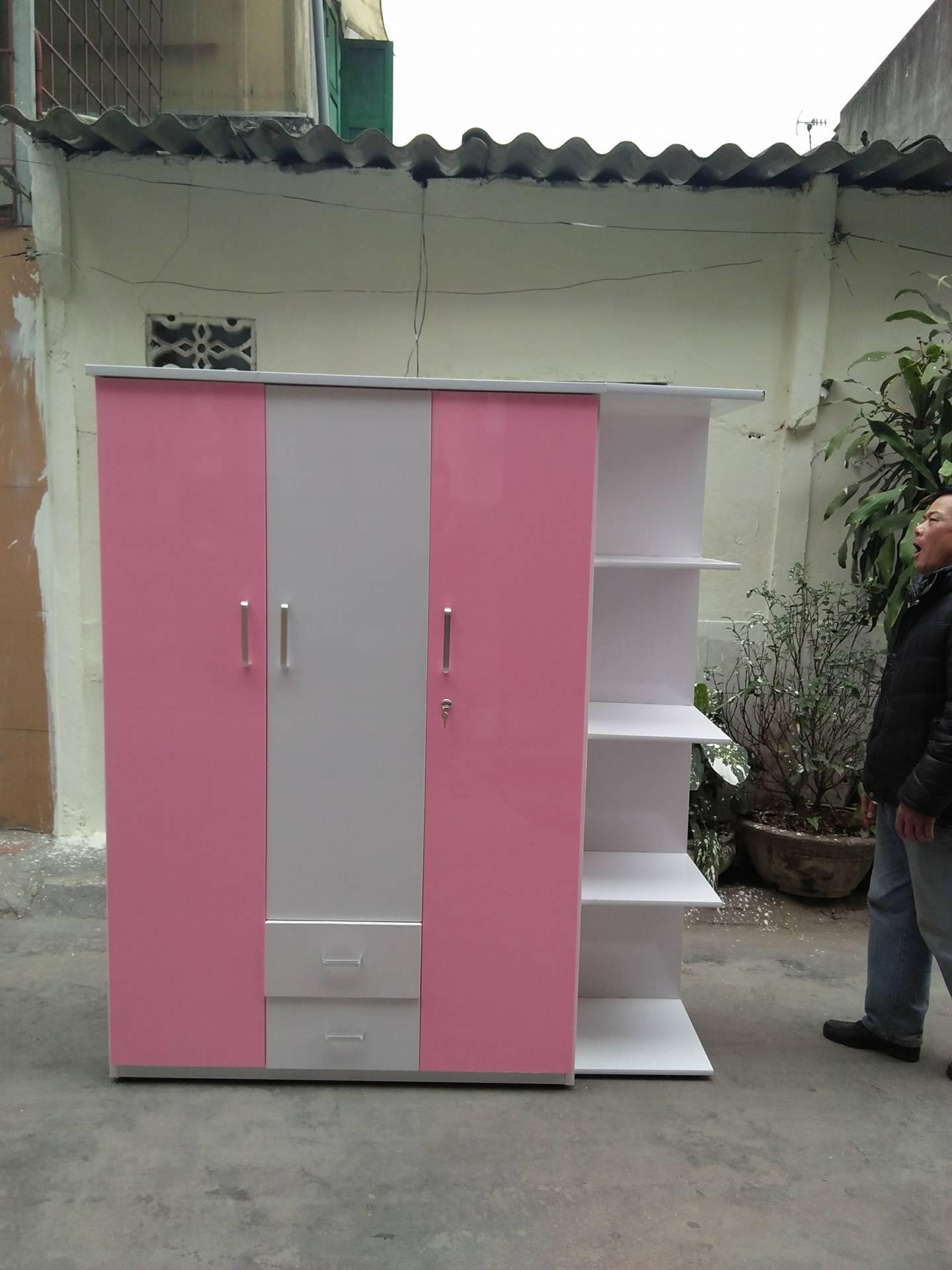 Tủ nhựa Đài Loan Hải Phòng 3 buồng 2 ngăn kéo có đợt