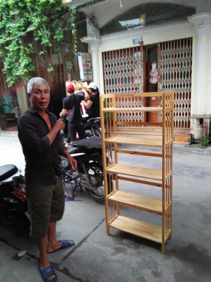 Kệ Sách Đa Năng Gỗ Cao Su Tự Nhiên 80cm x 5 Tầng x 158cm