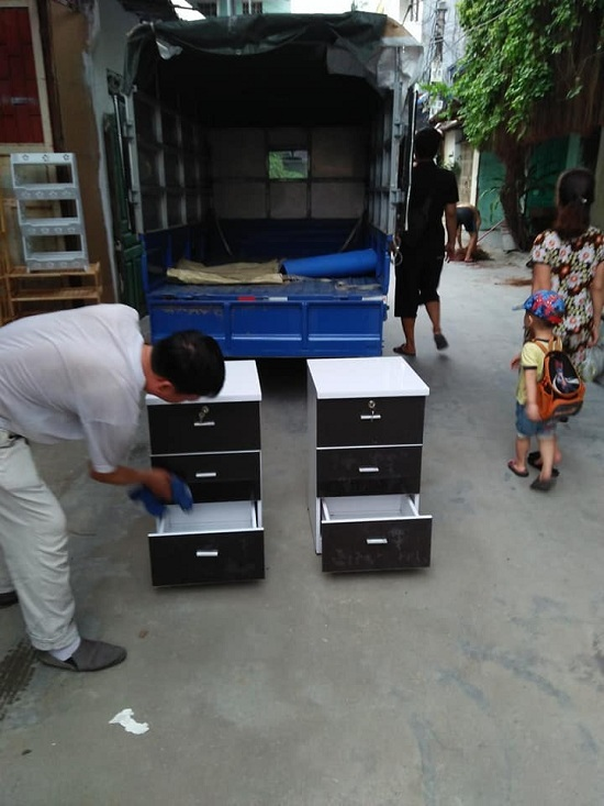 Tủ Đầu Giường Nhựa 3 ngăn kéo