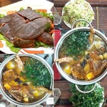 Set ăn Lẩu BaBa và Gà Đồi thơm ngon