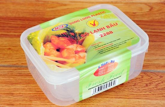 Bộ 05 hộp nhựa đựng thực phẩm có nắp tiện ích