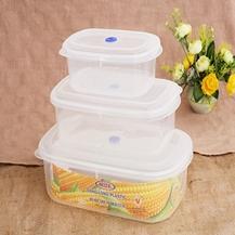 Bộ 3 hộp nhựa đựng thực phẩm cỡ to - Việt Nam