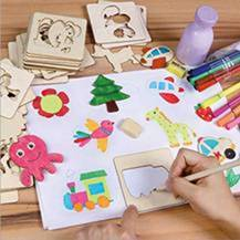 Bộ khuôn gỗ vẽ con vật cho bé