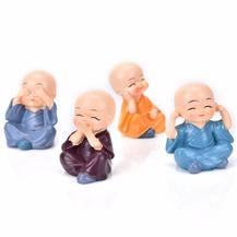 Bộ tượng gồm 4 chú tiểu thiếu lâm