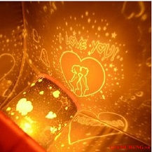 Đèn ngủ chiếu sao trái tim đổi màu