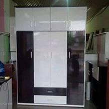 Tủ Nhựa Đài Loan Hải Phòng 4 cánh to 4 cánh 2 ngăn kéo to