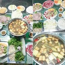 Set ăn Bò nhúng dấm  kèm Bẹ sữa, Ba Chỉ nướng, Khoai tây chiên