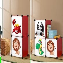 Tủ nhựa Hàn Quốc loại 02 ngăn hình con vật lắp ghép thông minh( Bán theo yêu cầu : 20.000 đ/ tấm )