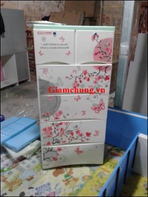 Tủ Nhựa cabinet Vĩ Hưng 5 Tầng 6 Ngăn  ( Giá Rẻ - Hot )