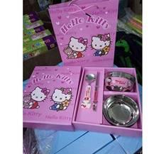 Bộ bát inox hình Hello Kitty